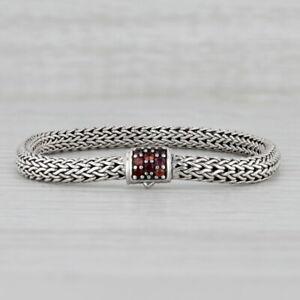 "New John Hardy Lava Red Sapphire Lock Classic Bracelet Small 6.25"" Tag Bag"