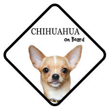 CHIHUAHUA On Board Car Sign With Sucker Dog Stickers