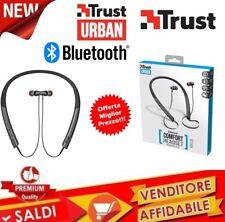 Auricolari Wireless Bluetooth Neckband, Nero Trust Urban Kolla CUFFIE MICROFONO