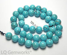 "15.5"" SLEEPING BEAUTY TURQUOISE 10mm Round Beads A+ NATURAL BLUE /R31"