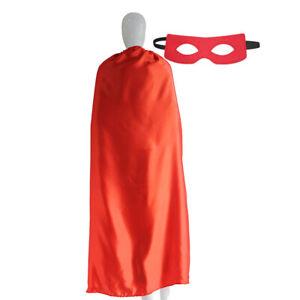 Adult Superhero Capes Costume Solid Capes and Felt Masks Plain Capes