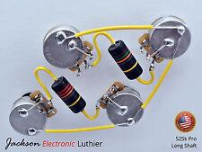 Les Paul Wiring Harness Emerson Bumblebees Caps CTS Pro 525k Pots Long Shaft