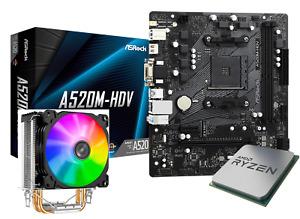 Ryzen 3 3100 AsRock A520M-HDV Jonsbo CR1200 CPU Motherboard RGB Cooler Combo