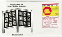 mexico 1988 philatelic expo. stamps cover ref 20279