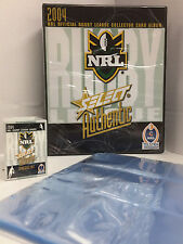 2004 NRL Authentic Trading Cards Base Set (181)+ Official Album + 21 Pages