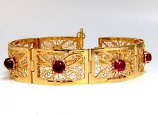 7.40ct Natural Spinel Open Gilt Vintage Bracelet 14 Karat