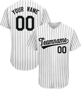 Baseball Jerseys Personalized Name&Number Stripe S-3XL