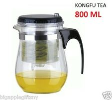 Glass Gongfu Tea Cup Maker Press Art Teapot with Stainless steel Infuser 800 Ml