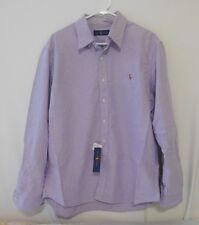 Ralph Lauren Men Lavender Cotton Oxford Sport Shirt -  Extra Large XL NEW