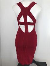 Victorias Secret Womens Dress Small Sleeveless Ribbed Cutout Bodycon Strappy J3