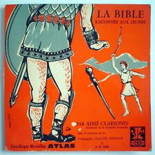 LIVRE-DISQUE 33 TOURS ATLAS DE 1960, LA BIBLE RACONTÉE AUX JEUNES, No.A 25 1028