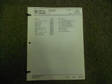 1989 VW Cabriolet Cruise Control Stereo Wiring Diagram Service Manual OEM 89