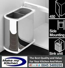 Duo 16L Swing Out kitchen Double waste Rrecycling bin for 450mm Unit