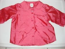 baby gap special occasion girls pink silk blouse sz 2yr