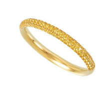 Yellow Sapphire Bridal Eternity Band 14K Yellow Gold