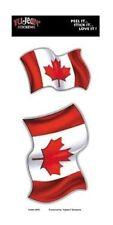 Wavy Canadian Flag Car/Hard Hat Sticker/Decal (2 Flags per Card)