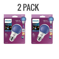 2 PACK Philips 60 Watt Equiv Instant On Autism Speaks LED Blue Light Bulb