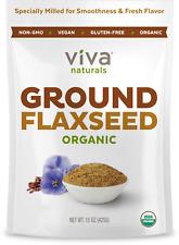 Viva Naturals - The BEST Organic Ground Flax Seed, 15 oz - Proprietary