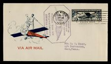 DR WHO 1928 FORT WORTH TX FIRST FLIGHT AIR MAIL C196108