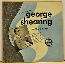 """GEORGE SHEARING And His Quintet   1950  10"""" Vinyl LP   MGM   E518"""