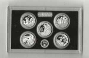 2016 s 5-piece quarter PARTIAL silver proof set