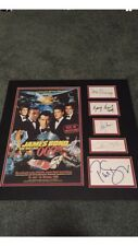JAMES BOND SIGNED AUTOGRAPHED by (5) Poster CONNERY Dalton Moore Brosnan JSA LOA