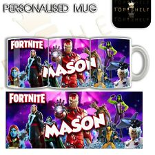 Personalised Fortnite mug brand new season / chapter Marvel skins