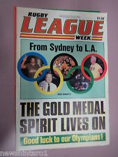 #T110. RUGBY LEAGUE WEEK NEWSPAPER  26/7 1984, SOUTH SYDNEY PINUP