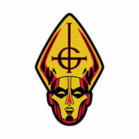GHOST Papa Head Cutout Woven Sew On Patch Official Licensed Band Merch Metal