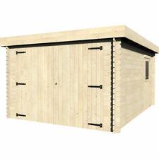 Garage Box Auto Casetta in Legno Massiccio 28mm Porta Doppia Riparo da Giardino