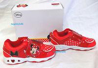 scare ginnastica bambina Disney minnie con luci intermittenti rosso a pois