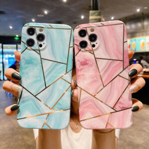 Geometry Marble Soft TPU Case Cover For iPhone 12 Pro Max 11 XS XR X 8 7 6S Plus