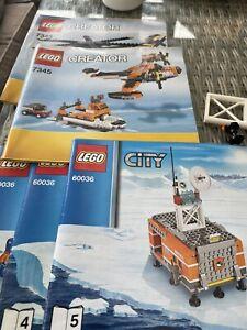 LEGO City 60036 Arctic Base Camp & Creator 7345