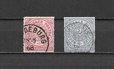 Altdeutschland Norddeutscher Bund 1868 Mi - Nr 4 + 5 gestempelt