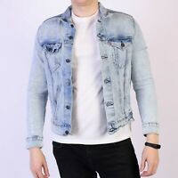 Levi's Pretty City hellblau fleckig Herren festive Trucker Jacket Größe M