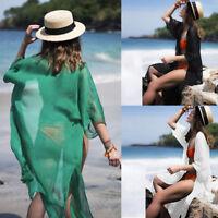 Women Chiffon Mesh Bikini Cover Up Kimono Cardigan Beach Dress Blouse Top Jacket