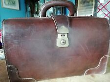 vintage leather doctors gladstone bag