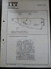 Original Service Manual  ITT Tiny 220