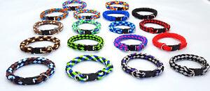 Hundehalsband mini für kleine Hunde rundgeflochten Tauwerk 18cm - 30cm Halsband