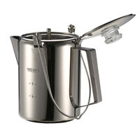 Cup Stainless Steel Percolator Coffee Pot Maker for Camping Home Kitchen X9U6