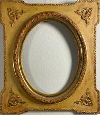 Barockrahme, Prunkrahmen, Holz, vergoldet museal eckig/oval, groß und schwer