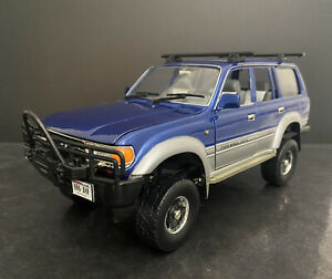 Lifted ! 1992 Toyota Land Cruiser 4x4 Blue 1/18 Kodeblake Custom HTF