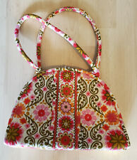 VERA BRADLEY Tote Retro Quilted Daisy Hand Bag Purse Large Looks Like Coin Purse