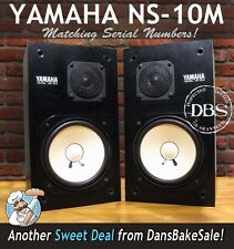 Yamaha NS10M Pair Professional Speakers Monitors w/ Grilles - Look & Sound Great