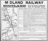 1906 Antique Print Advertisements - Midland Railway Scotland  Map Route  (4)