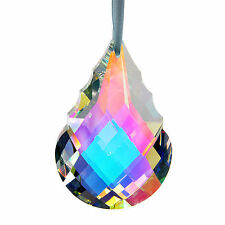 76mm AB Coating Large Crystals Prisms Chandelier Lamp Part Hanging Suncatcher