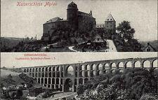 Mylau Sachsen Vogtland ~1910 Kaiserschloss Schloss Göltzschtalbrücke Brücke Burg