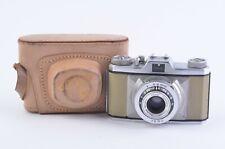 Exc+ Vintage Bolsey Explorer Vero Camera w/ Cassar 45mm F2.8 Lens+Case, Works!