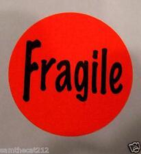 500 Fragile Circle Label Sticker Big 1 12 15 Round Best Price