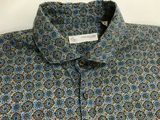 Poggianti Made in Italy Mens Long Sleeve Button Up Shirt Size: Medium